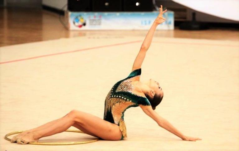 Ελένη Κελαϊδίτη, η ταλαντούχα αθλήτρια της Εθνικής ρυθμικής γυμναστικής.