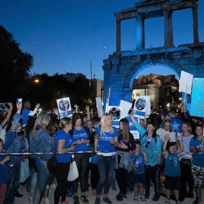 Ο Μπλε περίπατος του Make A Wish για την Παγκόσμια Ημέρα Ευχής.
